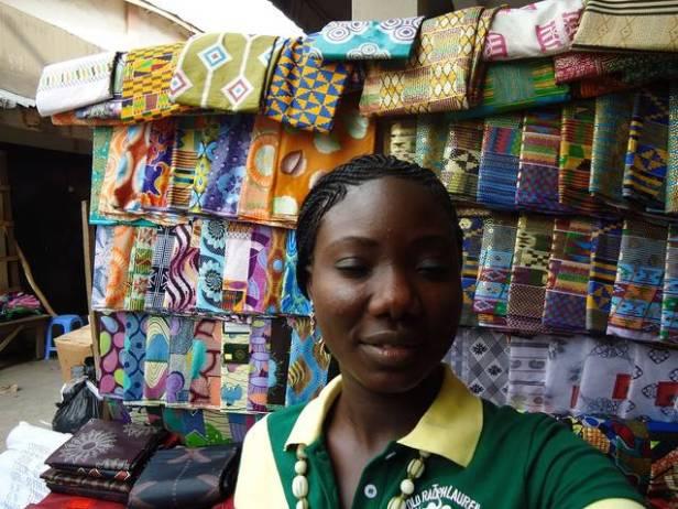 Adetutu at a Market in Ghana