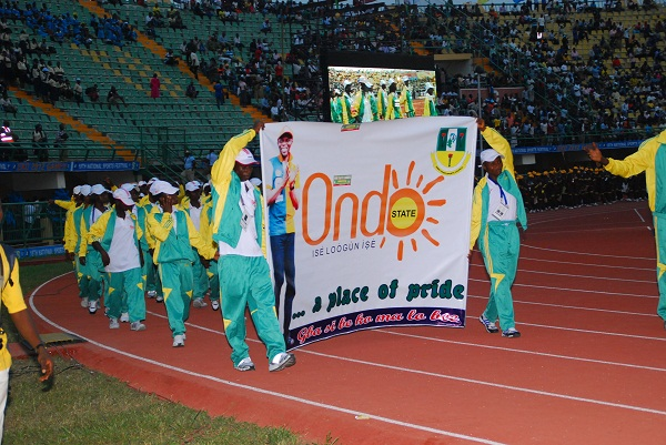 Ondo State Contigent at the Eko 2012 Games