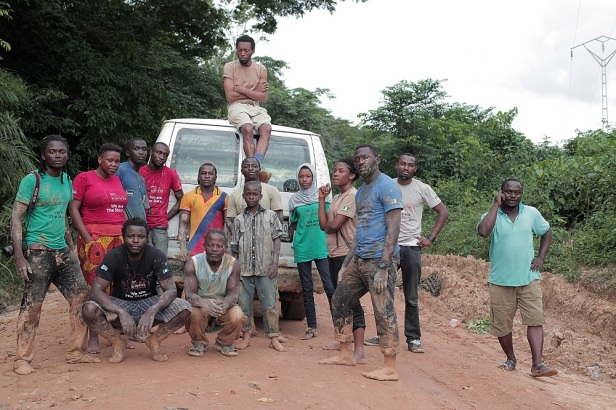 The Invidible Borders Team in Ekok Mamfe  - Cameroun, photo by p