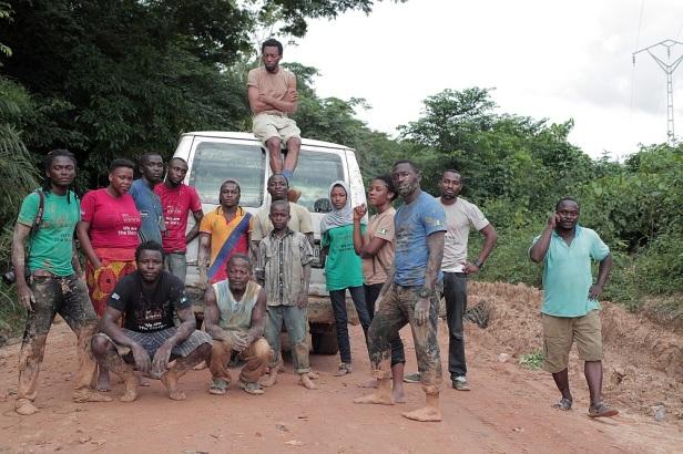The Invidible Borders Team in Ekok Mamfe  - Cameroun, photo by p