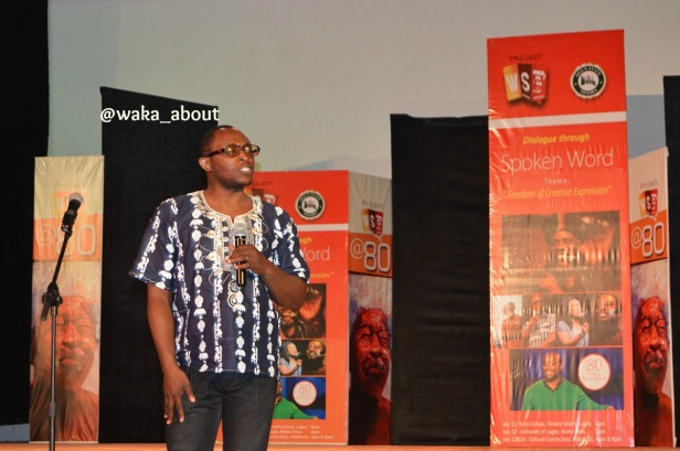 Efe Paul Azino performing in Abeokuta for WS80