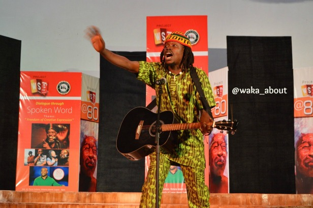 Edaoto Agbeniyi performing in Abeokuta for WS80