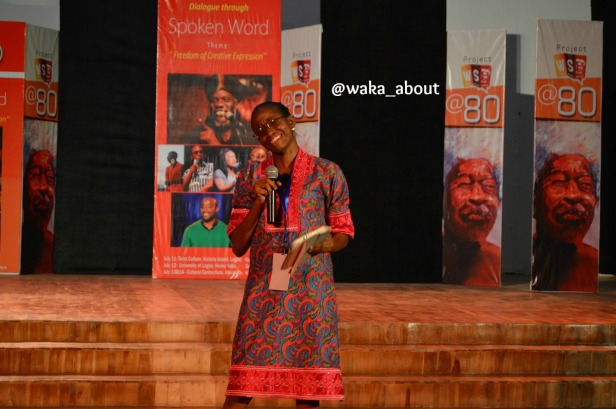 Jumoke Verissimo performing in Abeokuta for WS80