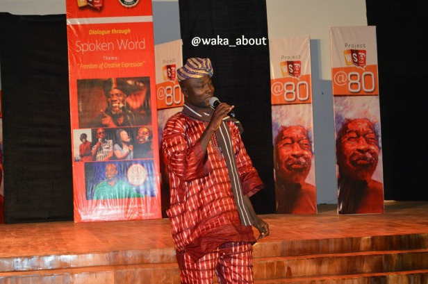 Akeem Lasisi performing in Abeokuta for WS80