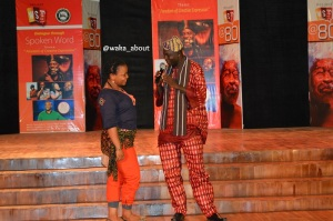 Journalist and spoken word poet Akeem Lasisi performs a love medley titled 'Udeme' to a rousing applause