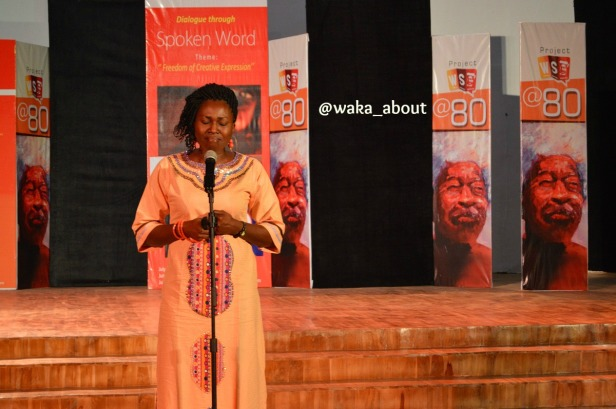 Iquo DianaAbasi Eke performing in Abeokuta for WS80