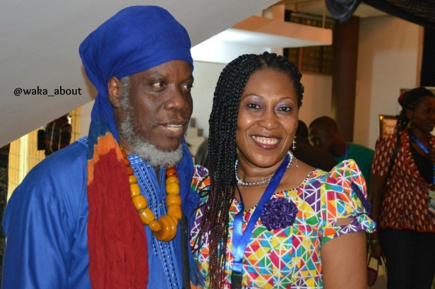 Jamaican dub-poetry grand-master Mutabaruka is looking all regal with actress and #WS80 producer Lilian Amah-Aluko