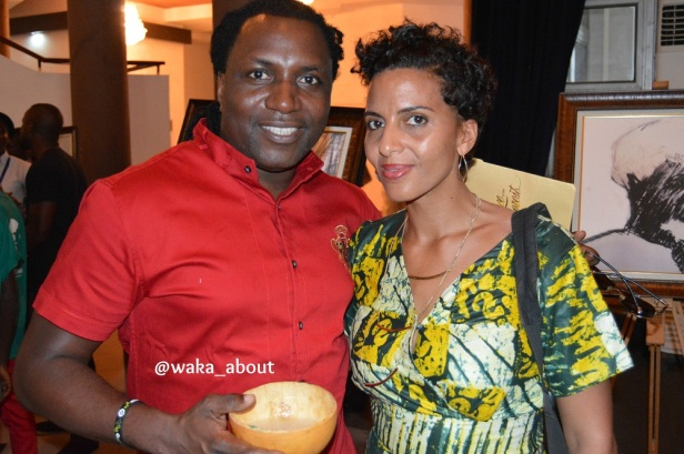 PR maestro Steve Babaeko and professional photographer wife, Yetunde at the palmwine reception for #WS80