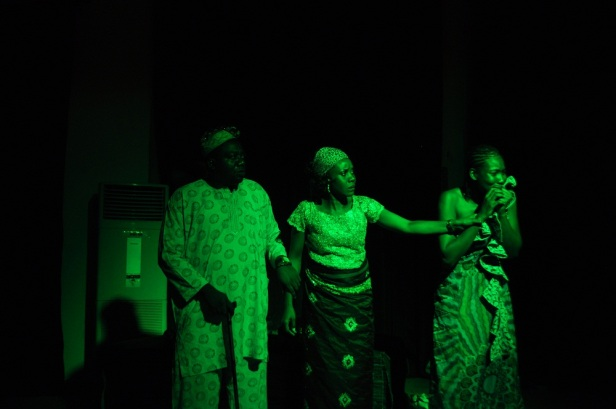 Embittered--Morounke and parents, Chief and Mrs Olumonrin