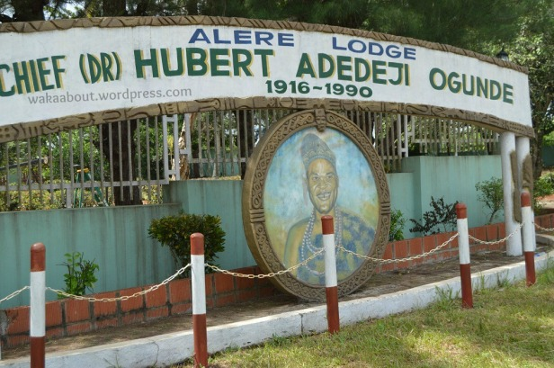 Art decor/ painting in front of Hubert Ogunde's country home in Ososa