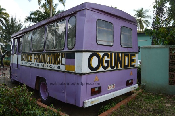 Ogunde Productions--The Tour Bus parked inside the late actor's country home in Ososa
