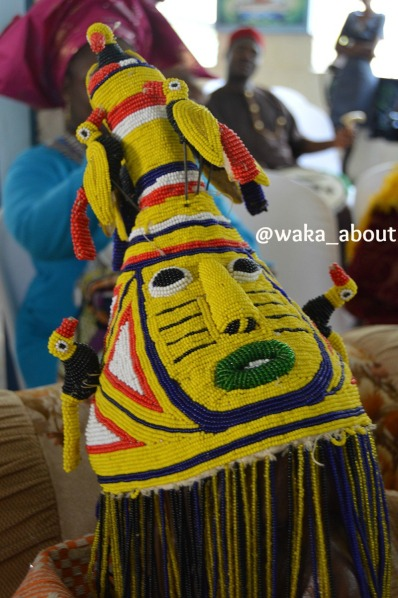 """Preserved for Posterity: Beaded crown from one of Ogunde's film from the 1980s, """"Ayanmo"""""""