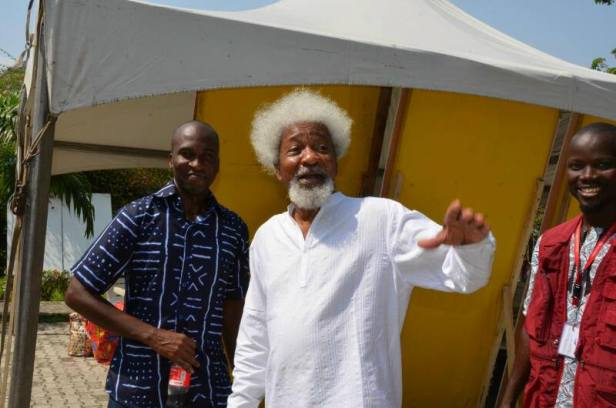 Wole Soyinka & I (at LABAF 2013). Photo by Taiwo Olusola Johnson