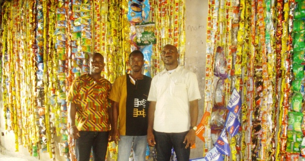 Lanre Tejuoso with guests inside the Aroko Green Museum
