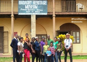 Tourists pose for photos at the Badagry Heritage Museum
