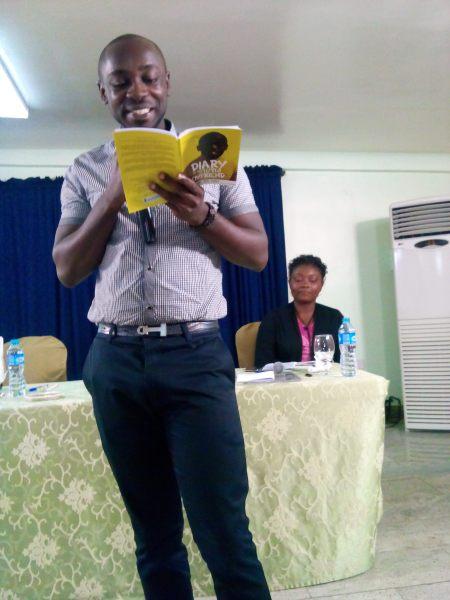 Bura-Bari Nwilo reading from 'Diary of Stupid Boyfried'