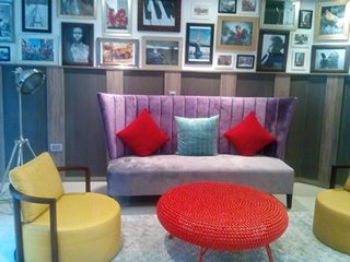 The top-rate furnishing in Maison Fahrenheit will make you 'ooh' and 'aah' on end. The framed photos in the background are representative of global travel and any one of the lot can be purchased.