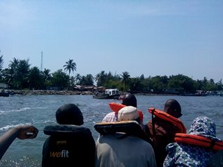Boat with a view: WestPoint approaches Tarkwa Bay Jetty