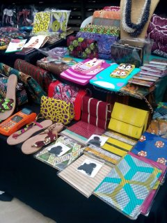 Exhibitors at the mente De Moda exhibition offered some ingenuity with accessories featuring local fabrics. They were a hit with shoppers