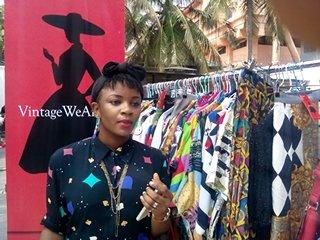 A shopper at the Mente De Moda Exhibition