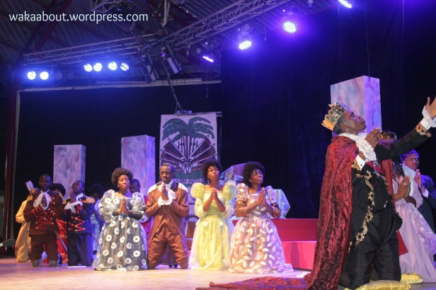 A scene from the play, 'The tragedy of King Christophe' by the Jos Repertory Theatre