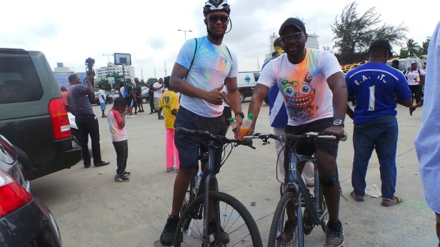 The Lagos Colour Splash was about walking, running, jogging, strolling and biking