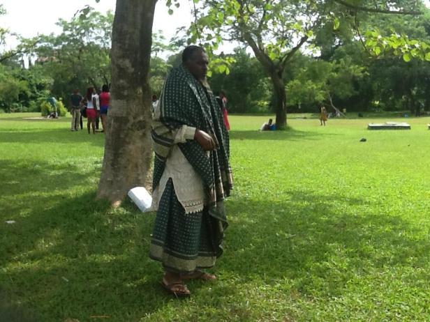 World Wrapperman at the Milinnium Park, Abuja