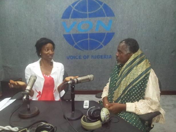World Wrapperman at the Voice of Nigeria (VON), Abuja