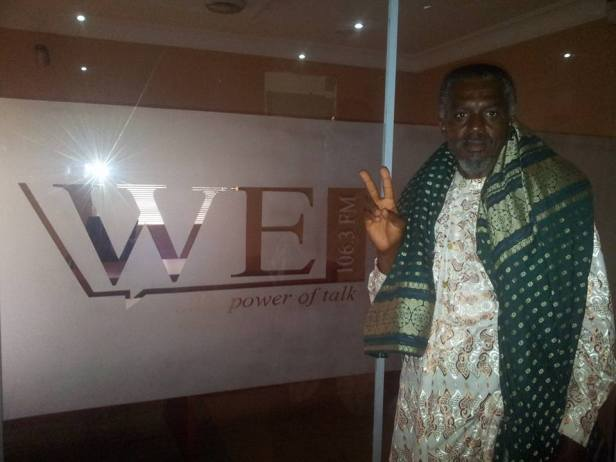World Wrapperman at the WE FM, Abuja