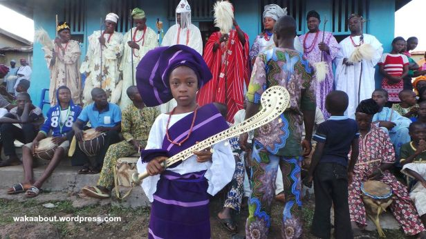 The future of Osokia'a festival is secure with a teenager like this. She hears a ceremonial sword belonging to an actual chief