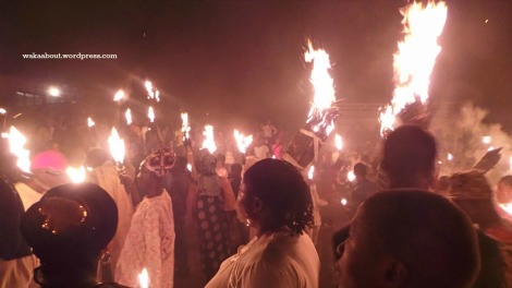 Osokia'a Festival: Under the darkened clouds, multiple fires light up the  festival grounds and the people are in jubilant mood