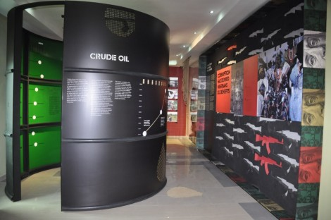 The negative impact of crude-oil in the Niger Delta gets detailed treatment in the  museum dedicated to it, documentaries and all