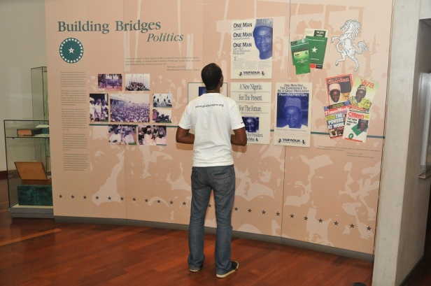 Pelu Awofeso  viewing the YarAdua  exhibits