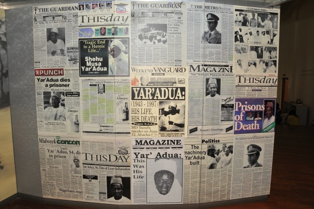Yar'Adua's arrests and death in detention made frontpage news