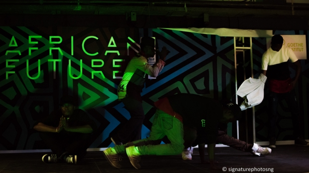 The future of dance: Team PyramidX performing on Day 2 of African Futures Lagos