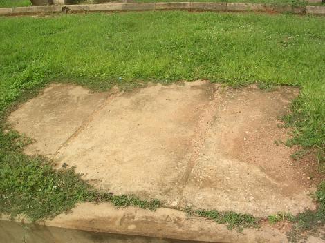 The spot where the Sardauna and his first wife were killed in 1966 inside Arewa House, Kaduna